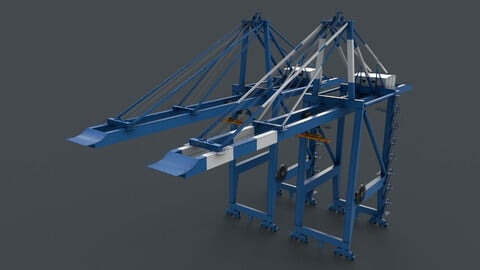 PBR Quayside Container Crane V2 - Blue Light
