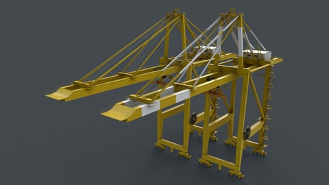 PBR Quayside Container Crane V2 - Yellow Light