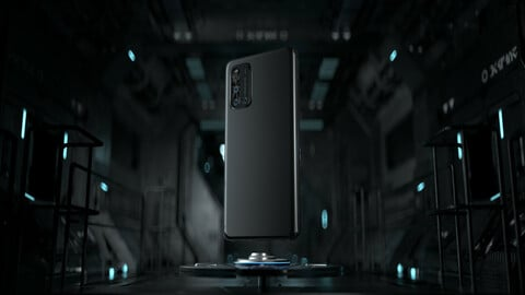 C4d Octane Phone version Wireless charging dock Tunnel hatch spacecraft Scifi Black style
