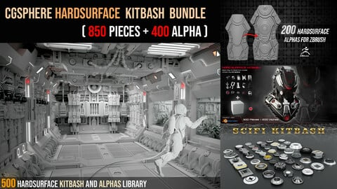 Hardsurface KitBash Bundle