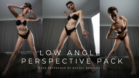 Low Angle Perspective Pack - Pose Reference for Artists