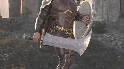 Mortal Warrior Outfit for Genesis 8 Male
