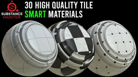 30 High Quality Tiles Material / .spsm