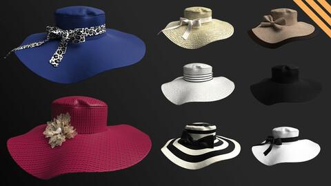 8 Different Hats in Marvelous Designer