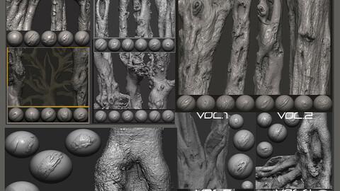 Z brush - Trunk Detail Brushes 9 Volumes