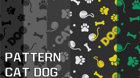 Patterns cat and dog