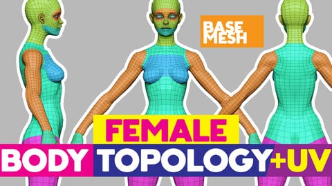 Full Female Body topology and UV