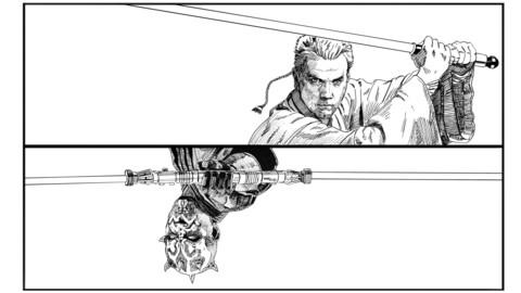 Star Wars Obi-Wan VS Darth Maul  Coloring page