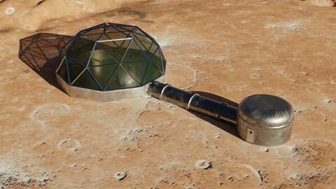 Martian - Moon base 3D model