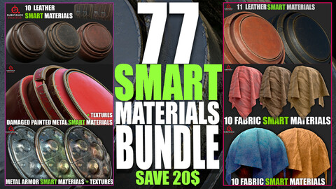 77 Smart Materials Bundle (Substance Painter)