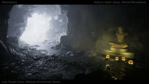[UE4][SCANS] Lost Temple Cave Scene