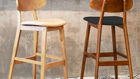 Olive Batten Island Table Chair 2colors