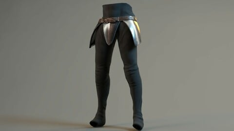 Warrior Belt Pant Model