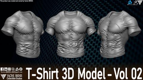 T-Shirt 3D Model Vol 02