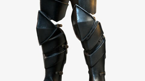 Warrior Leg Armor Model