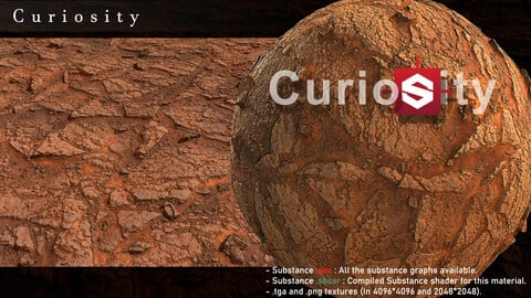 Curiosity substance graphs and textures
