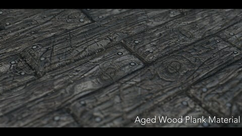 Aged WoodPlank Material