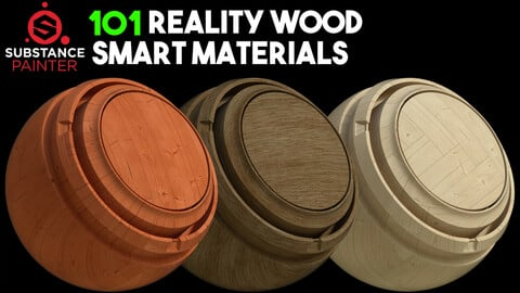 101 Ultra HD Wood Smart Materials / 8K / .spsm