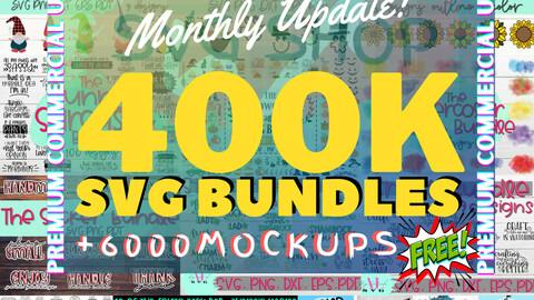 400K+ SVG Bundle   SVG Bundles   Cricut Svg   Silhouette File   Cricut Svg Files   Cricut Download   Svg, Eps, Pdf, Png, Dxf..  300dpi