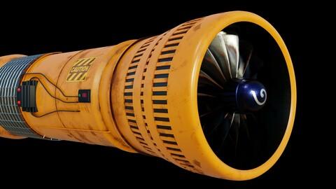 Turbine 3D model PBR materials 4K