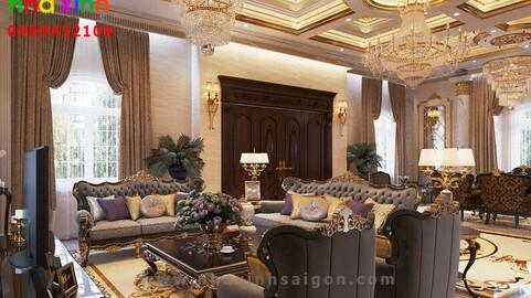 Dinh Thự Cổ Điển Pháp Nội Thất Dát Vàng 50 Tỷ