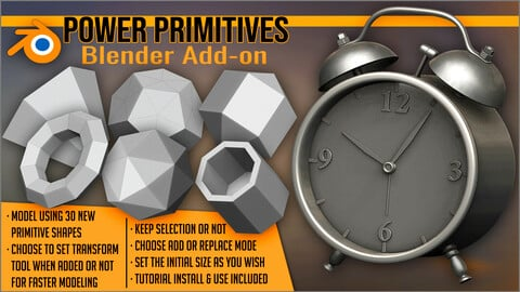 Power Primitives Add-on For Blender