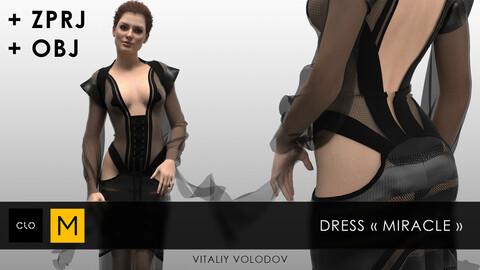 Dress MIRACLE | Clo3d, Marvelous designer projects.