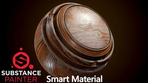Old Varnished Wood Smart Material