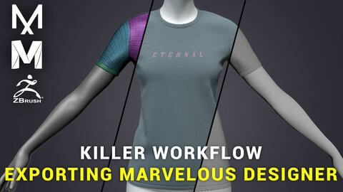 KILLER WORKFLOW MARVELOUS DESIGNER TO MAYA AND ZBRUSH