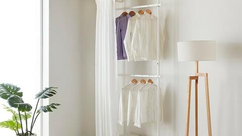Curtain type 2-tier hanger (width adjustment type)