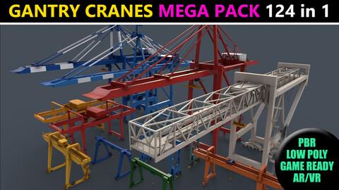 PBR Gantry Cranes - Mega Pack