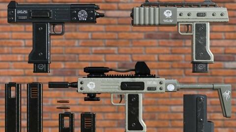 AMP-180 Machine Pistol