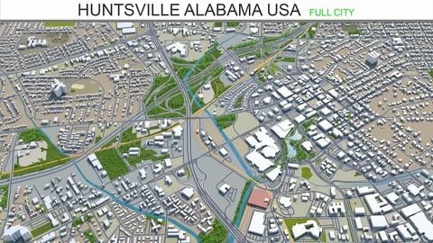 Huntsville city Alabama USA 3d model 50km
