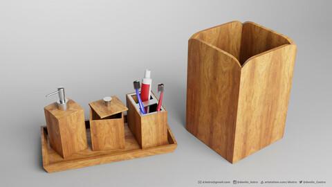 Bathroom Accessory Set kit | 3D model | 2k Textures