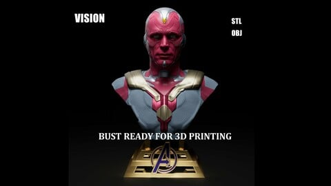 VISION BUST STL READY FOR 3D PRINT