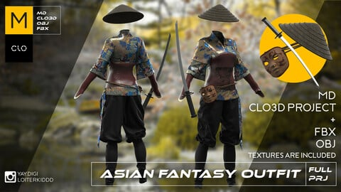 Asian Fantasy Female Outfit
