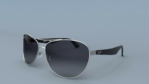 Sunglasses Ray Ban Grey Large Gradient 3D Model