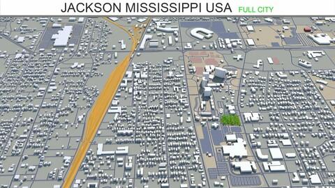 Jackson city Mississippi USA 3d model 40km