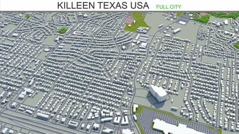 Killeen city Texas USA 3d model 25km