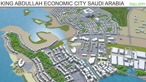King Abdullah Economic City Saudi Arabia 3d model 35km