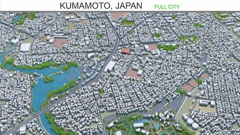 Kumamoto city Japan 3d model 40km