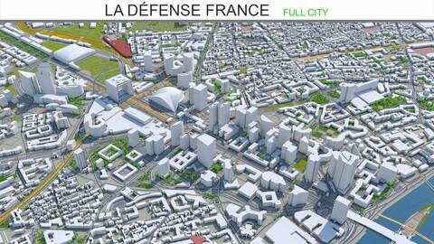 La Défense city France 3d model 10km