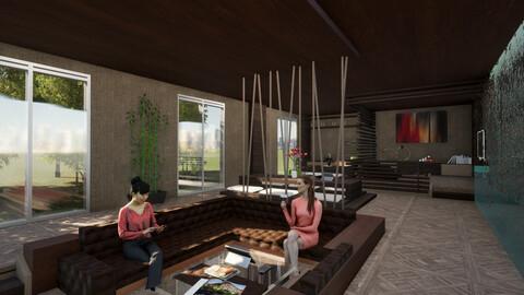 3D Revit studio apartment interior design