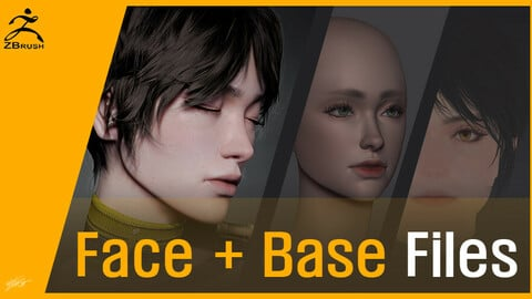 Face + Base face mesh Files (Zbrush)