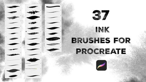Procreate Black Ink brushes 🖤