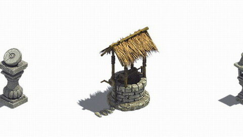 Sun bell - stone lamp - well