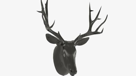 Deer mount wall decoration