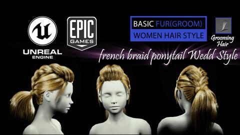 French Braid Ponytail Wedd Style (Groom) For UE4
