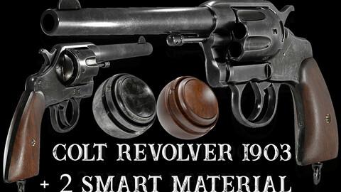 Colt-Revolver-1903-3dModel + 2 Smart Material