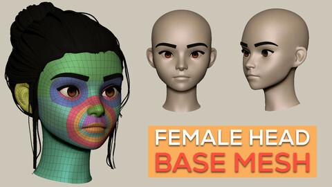 Stylized Female Head Basemesh